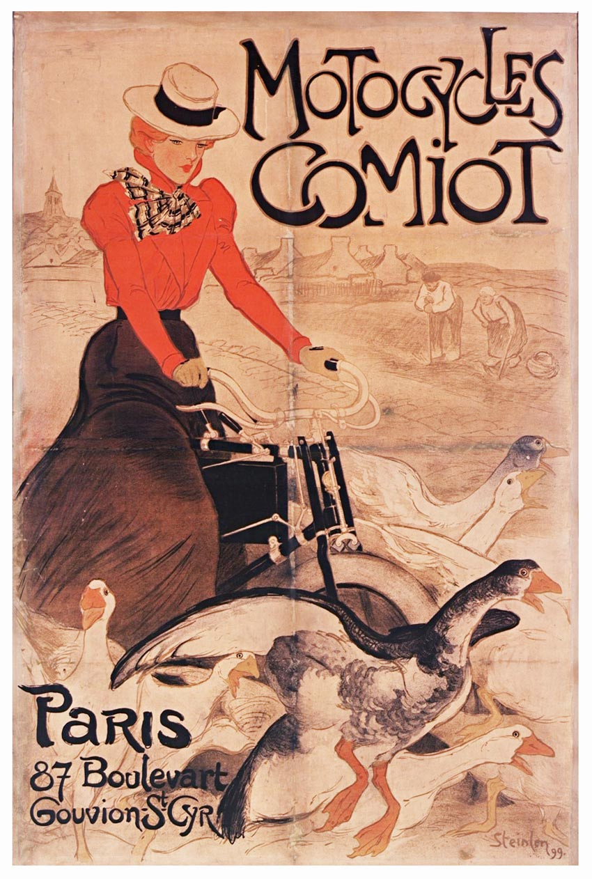 Théophile Steinlen (1859 – 1923), Comiot Motocycles 1899